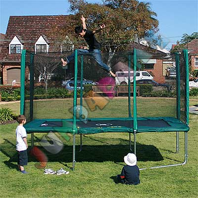 10FT x 7FT Rectangle Spring Trampoline with Net