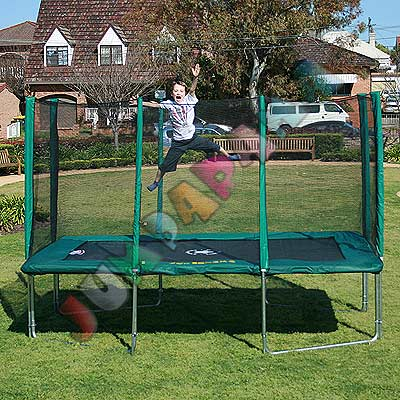 12FT x 8FT Rectangle Spring Trampoline with Net
