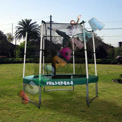 8FT Round Spring Trampoline with Net