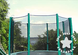 Time to replace your trampoline net? Check out our range of trampoline safety nets. We have 10FT, 12FT, 14FT and 15FT round trampoline nets.
